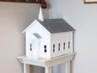 Replica of original church building
